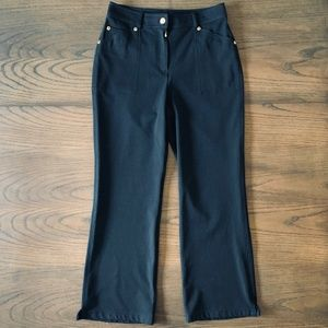 St. John Black Sport Collection Pants Size 6